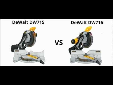 Dewalt DW715 vs DW716